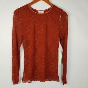 NWT Band of Gypsies My Baby Fitted Lace Top